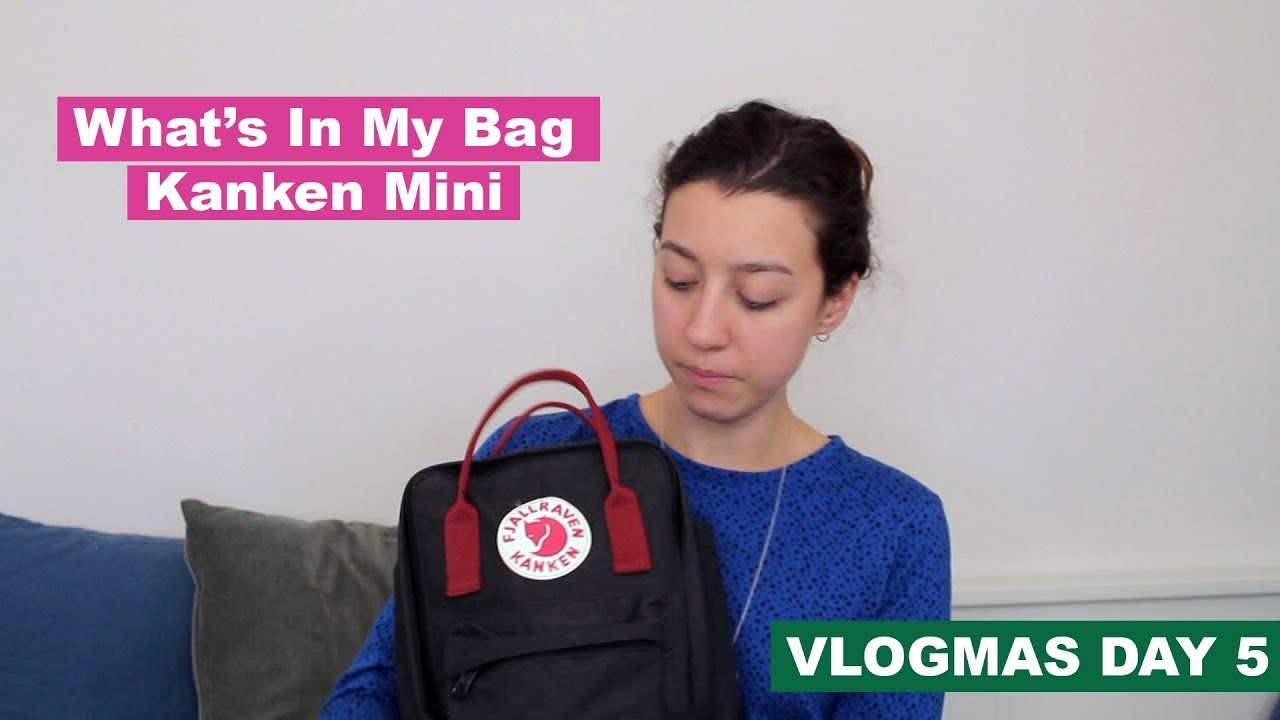 84ffe9ebd Vlogmas Day 5 - What's in my bag | Kanken Mini - YouTube