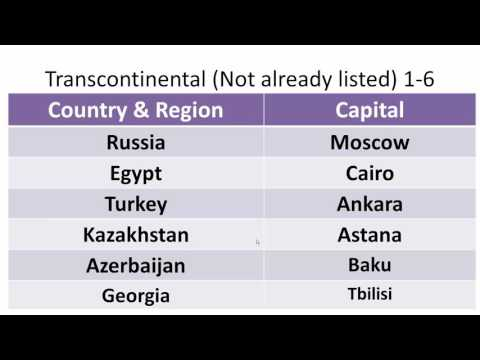 Transcontinental: Countries & Capitals 1-6