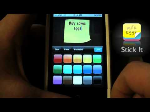Stick It - iPhone Sticky Notes - Best note taking iPhone App