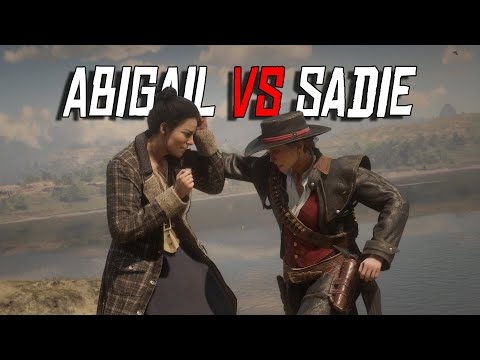 Sadie Vs Abigail Fist Fight | NPC Vs NPC | RDR2 Fight Club #5 (RDR2 Mods)
