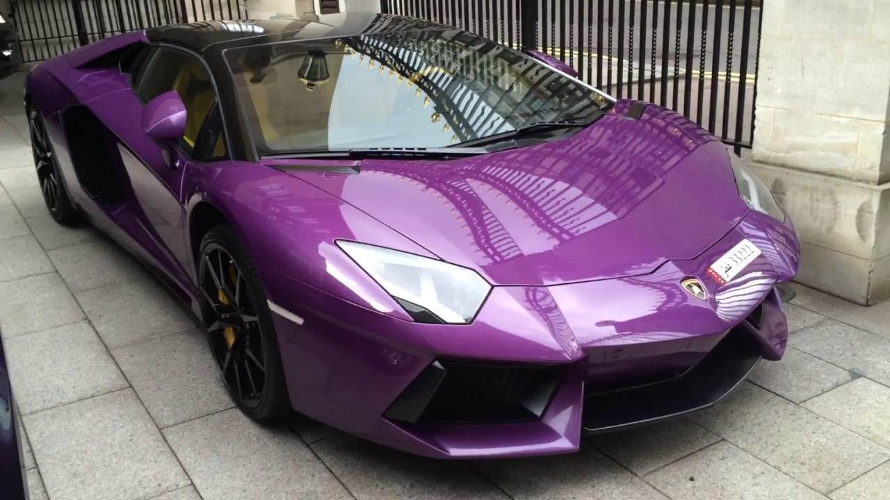 Purple Lamborghini Aventador In London Youtube