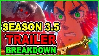 Eren Vs Beast Titan Army! Attack on Titan Season 3 Part 2 Trailer Breakdown