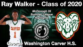 Ray Walker Summer League Highlights - Carver 2020 PG