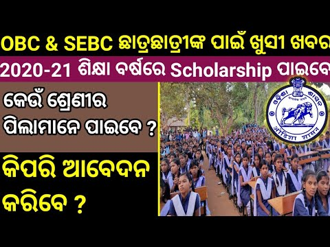 Pre Matric Scholarship Application Form 2020 || OBC and SEBC Students Scholarship Odisha - YouTube
