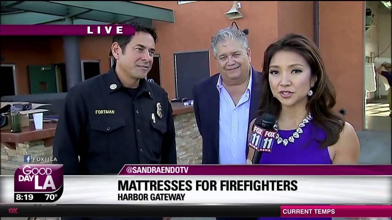 Fox 11 Good Day La Sit N Sleep Donates Mattresses To Harbor