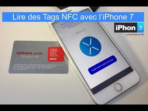 Lecture de  Tag NFC avec iPhone 7 iOS 11
