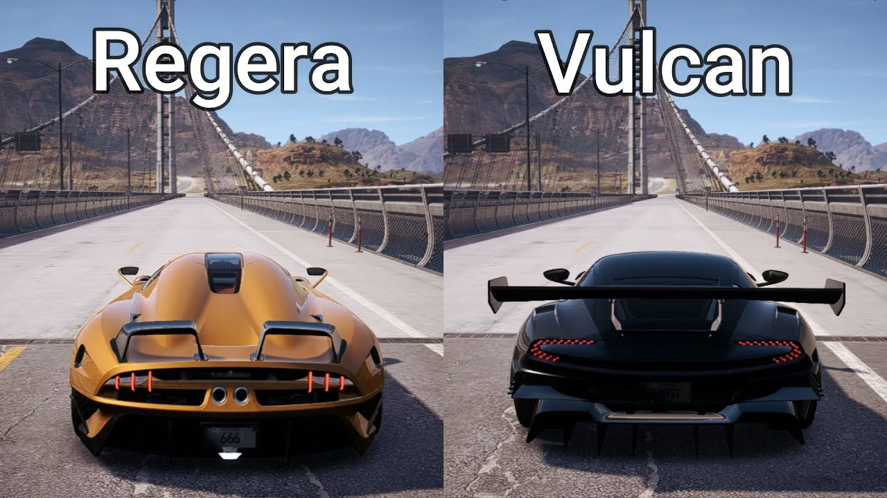 Nfs Payback Koenigsegg Regera Vs Aston Martin Vulcan Drag Race Youtube