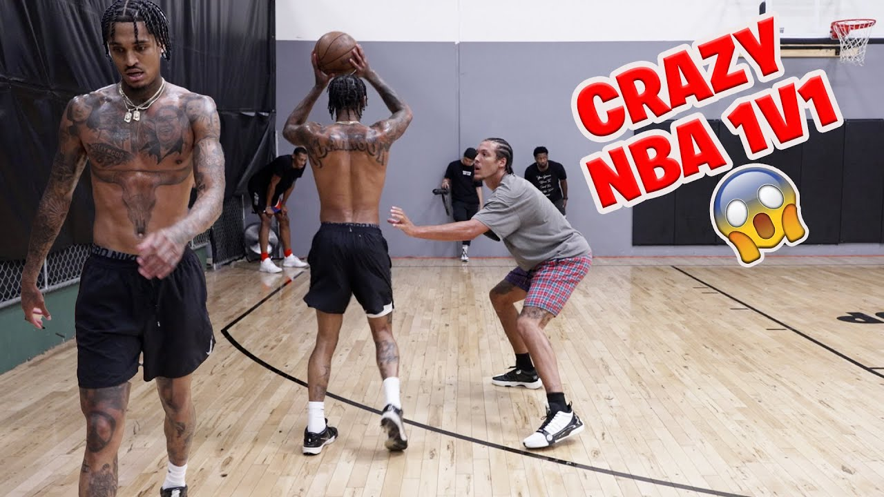 Download Jordan Clarkson, Aaron Gordon, and Darius Bazely GET'S INTENSE IN NBA 1V1😳