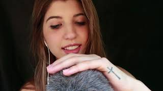 ASMR Fluffy Mic Affirmations, Hand Movements & Tingly Mouth Sounds ~