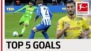 Top 5 Long-Range Goals So Far in 2017/18 - Sahin, Boateng, Gnabry & Co.