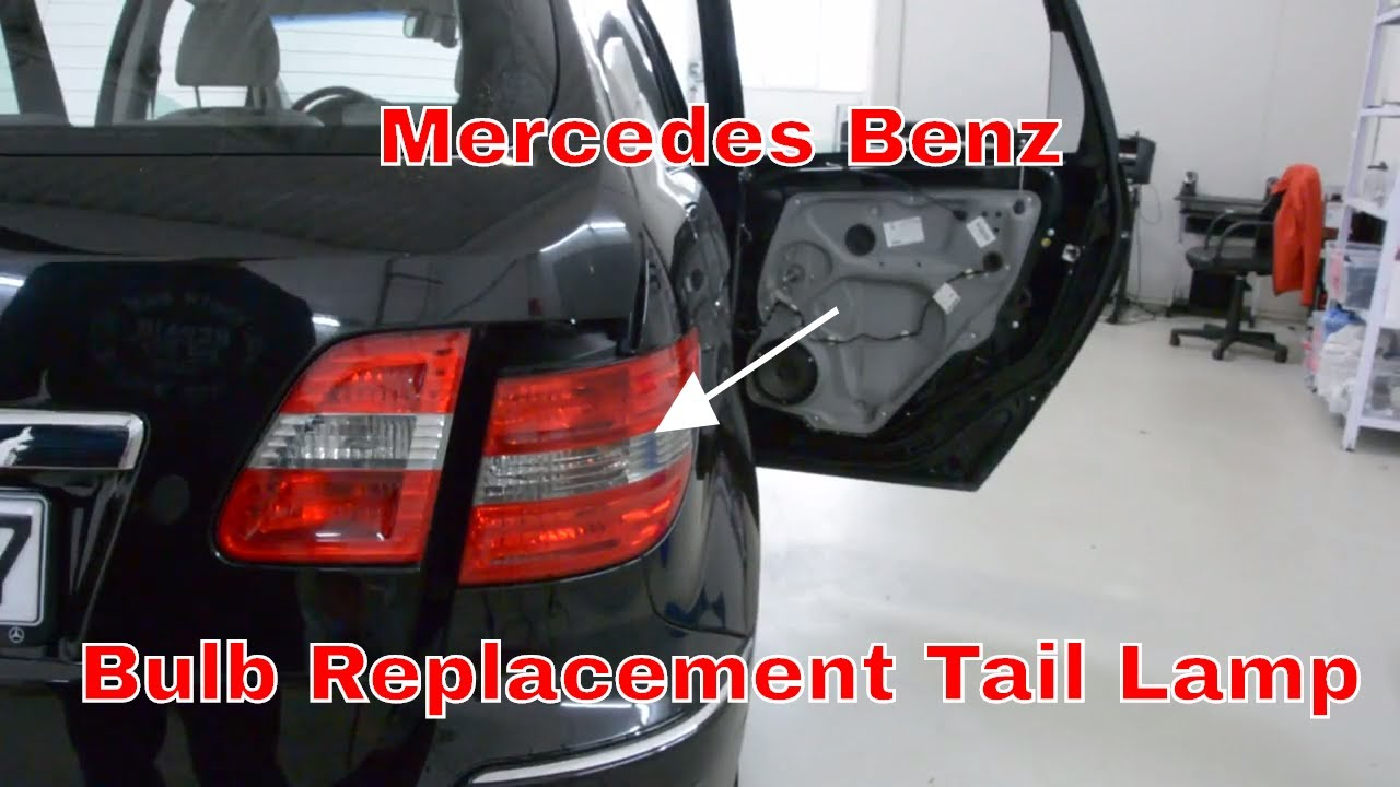 Mercedes benz bulb replacement tail lamp brake light b for Mercedes benz brake light problem