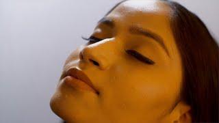 Closeup shot of an Indian beautiful woman with attractive eye makeup - makeup concept