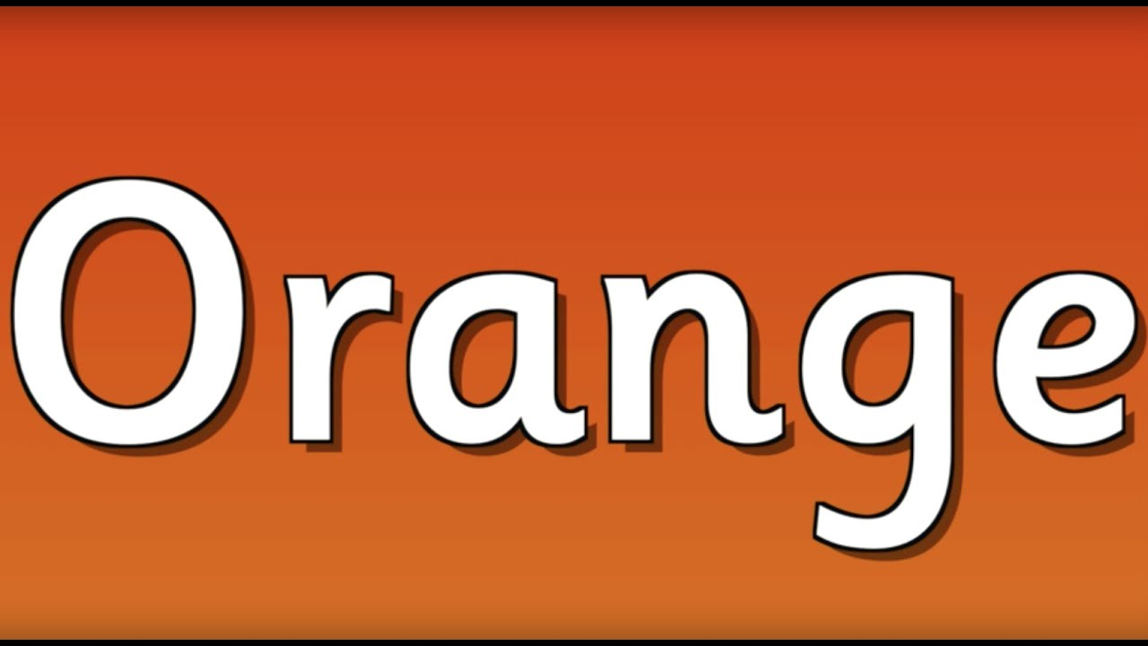 orange is the color of the day children s song orange colors