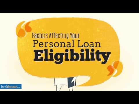 Factors Affecting Your Personal Loan Application