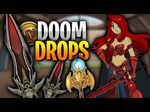 New DOOM Blade And Spear AQW! FREE DROPS!
