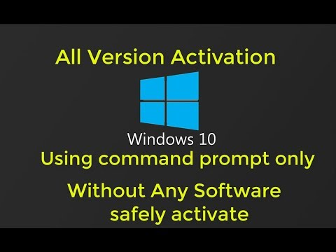 How To Activate Windows 10 Pro Free Using Cmd Permanently ...
