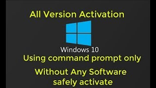 Safely activate windows 10 and avoid scams malware. your pro with command prompt only. without any software product key. your...