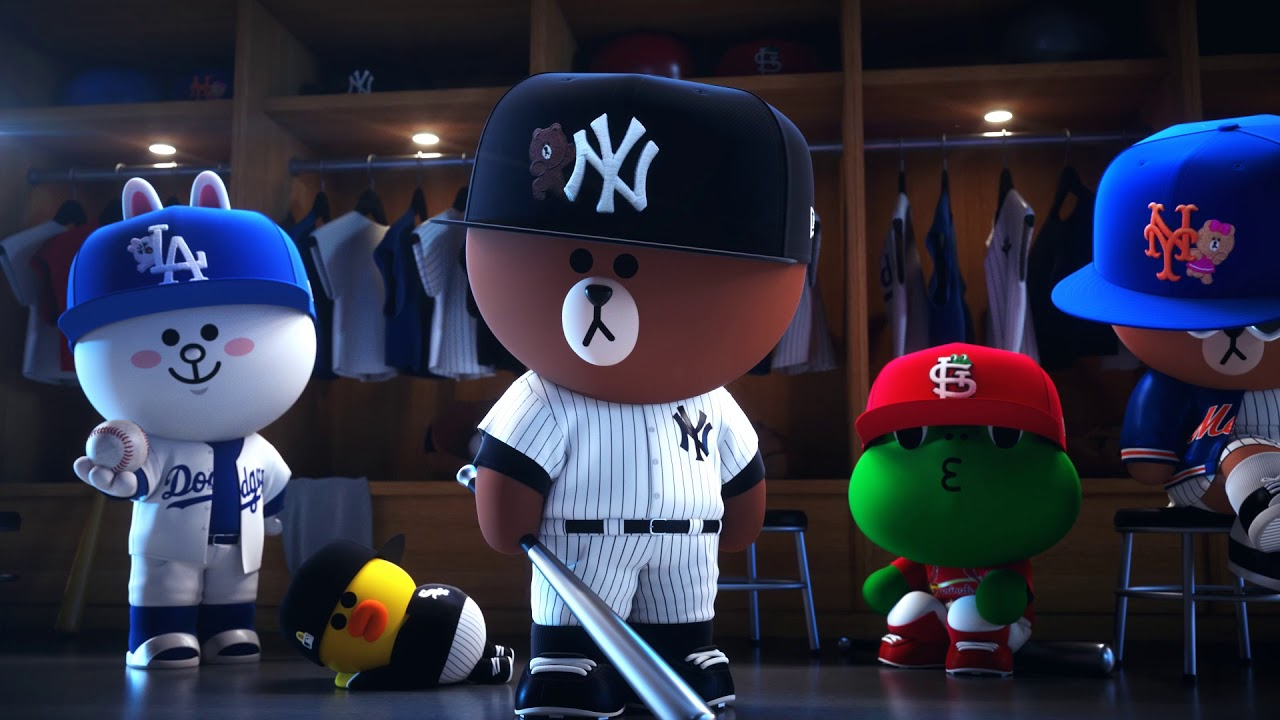 NEW ERA   LINE FRIENDS MLB SNAPBACKS / BROWN & FRIENDS - YouTube