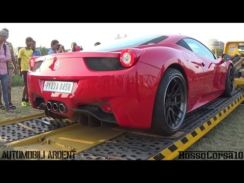 Ferrari 458 Italia Unloading at Parx Supercar Show 2015