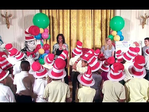 """The First Lady Reads Dr. Seuss's """"Oh, the Things You Can Do That Are Good For You"""""""