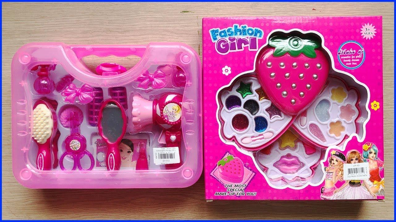 Đồ chơi trang điểm búp bê baby công chúa Hello Kitty – Make up toys for kids (Chim Xinh)