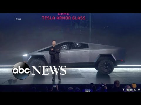 Tesla truck's 'unbreakable' windows shatter during demonstra
