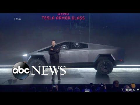 Tesla truck's 'unbreakable' windows shatter during demonstration