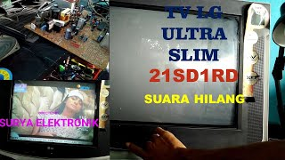 TV LG ULTRA SLIM SUARA HILANG
