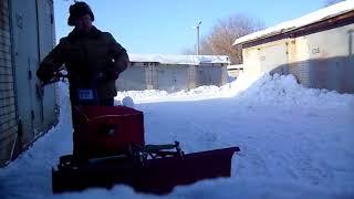 Пробный заезд в мороз с двигателем ЛИФАН 6,5 лс утеплённый термоавтокожухом