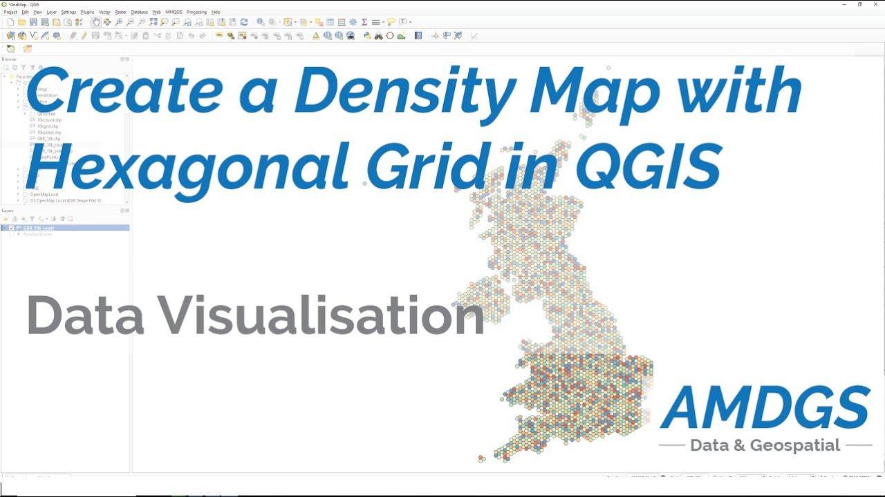 Create Density Maps with a Hexagonal Grid in QGIS
