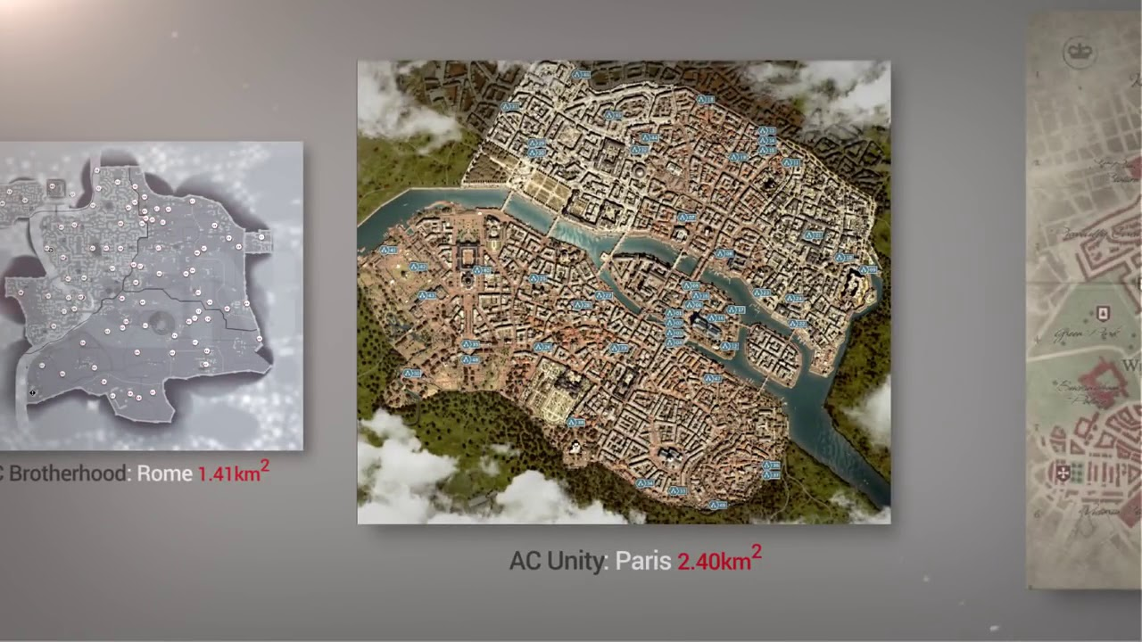 Assassin S Creed Maps Size Comparison Including Odyssey Youtube