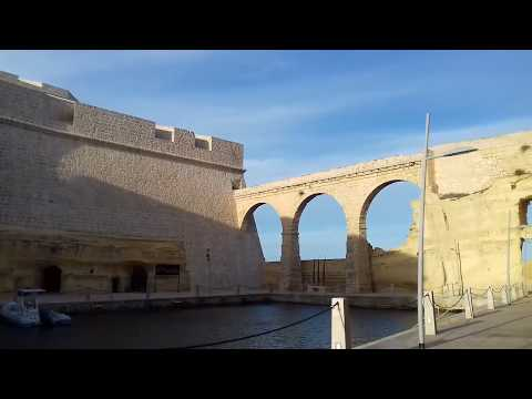 ~MALTA~ BIRGU narrow streets ,sea views ,Fort St Angelo and church