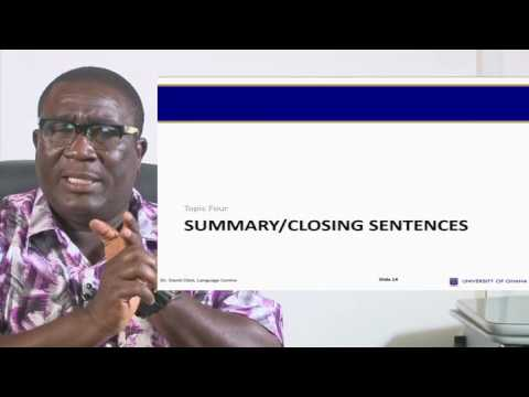 University of Ghana - Distance Education Video Channel