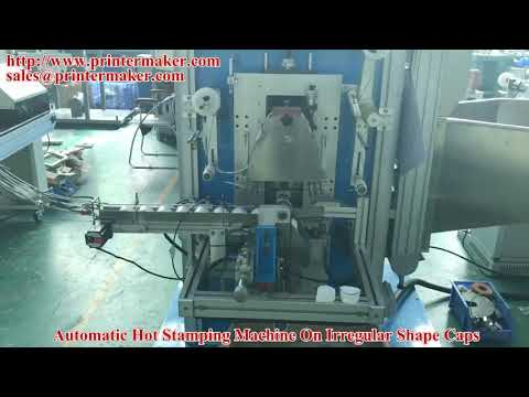 Automatic Hot Stamping Machine On Irregular Shape Caps