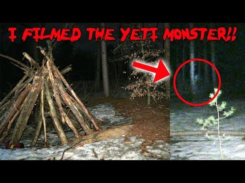 I CAUGHT THE YETI MONSTER ON CAMERA! *SCARIEST NIGHT OF MY LIFE*