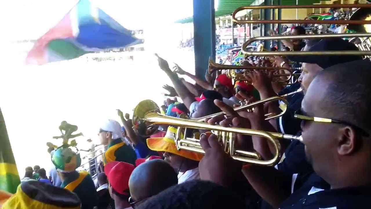 Next to St George's Band in PE at cricket. Proteas vs Australia.