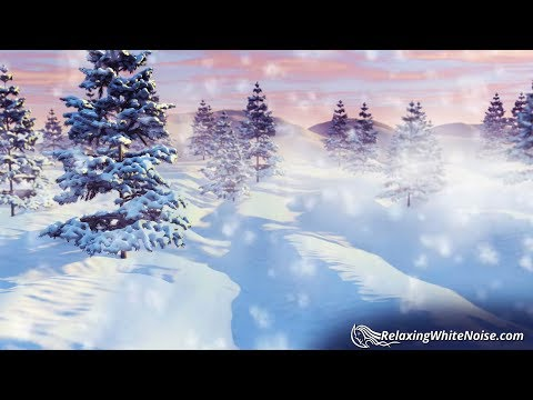 Winter Wind Sounds for Sleeping | Storm White Noise 10 Hours