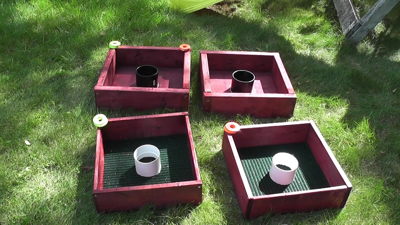 How to build a Washer Toss game - YouTube