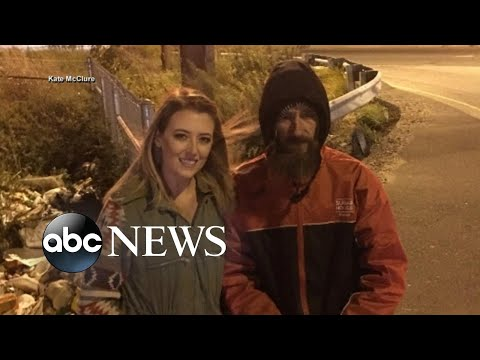 Young woman repays homeless veteran who used last $20 to buy her gas
