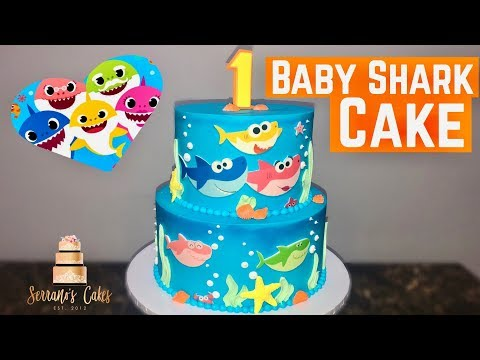 Baby Shark Cake | Using Edible Image