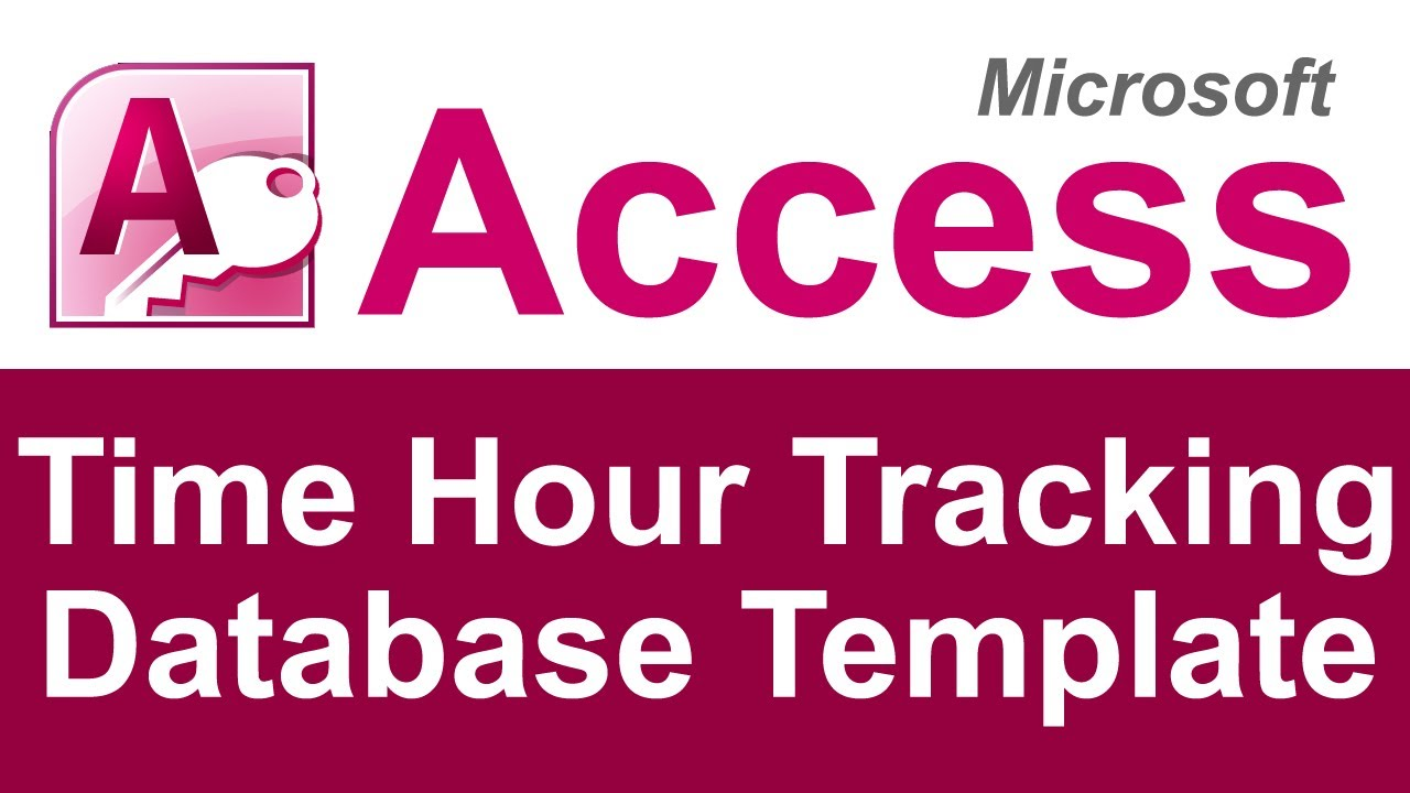 Time Hour Tracking Database Template Youtube