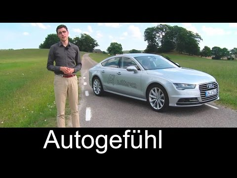 Audi A7 Sportback Facelift test drive review comparing with Mercedes CLS Facelift - Autogefühl