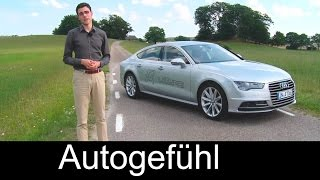 2015 Audi A7 Sportback Facelift test drive review comparing with Mercedes CLS Facelift - Autogefühl
