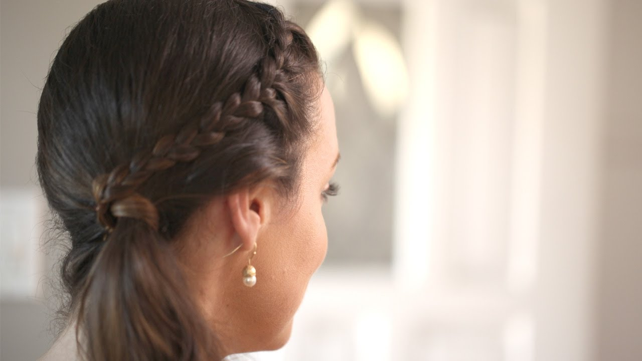 Front French Braid Create This Hairstyle Kin Beauty Youtube