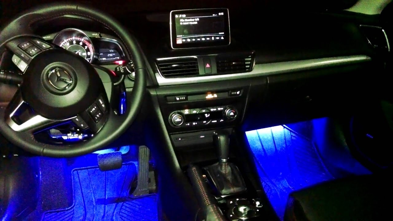 Mazda 3 Custom Interior Lighting Kit Youtube