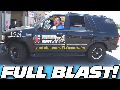 "FULL BLAST INSPECTION w/ 6 18"" Subwoofers & 30,000 Watts of LOUD Car Audio Subwoofer BASS Music!"