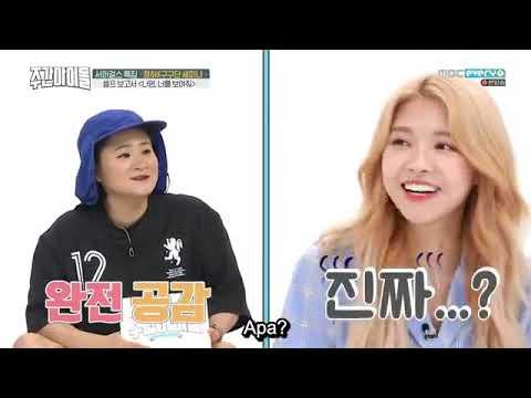 Weekly Idol Episode 365 SUB INDO (Apink, Kim Chung-ha, Gugudan SEMINA)