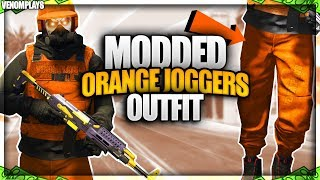 GTA 5 Orange Joggers TryHard Modded Outfit Using Clothing Glitches 1.46!