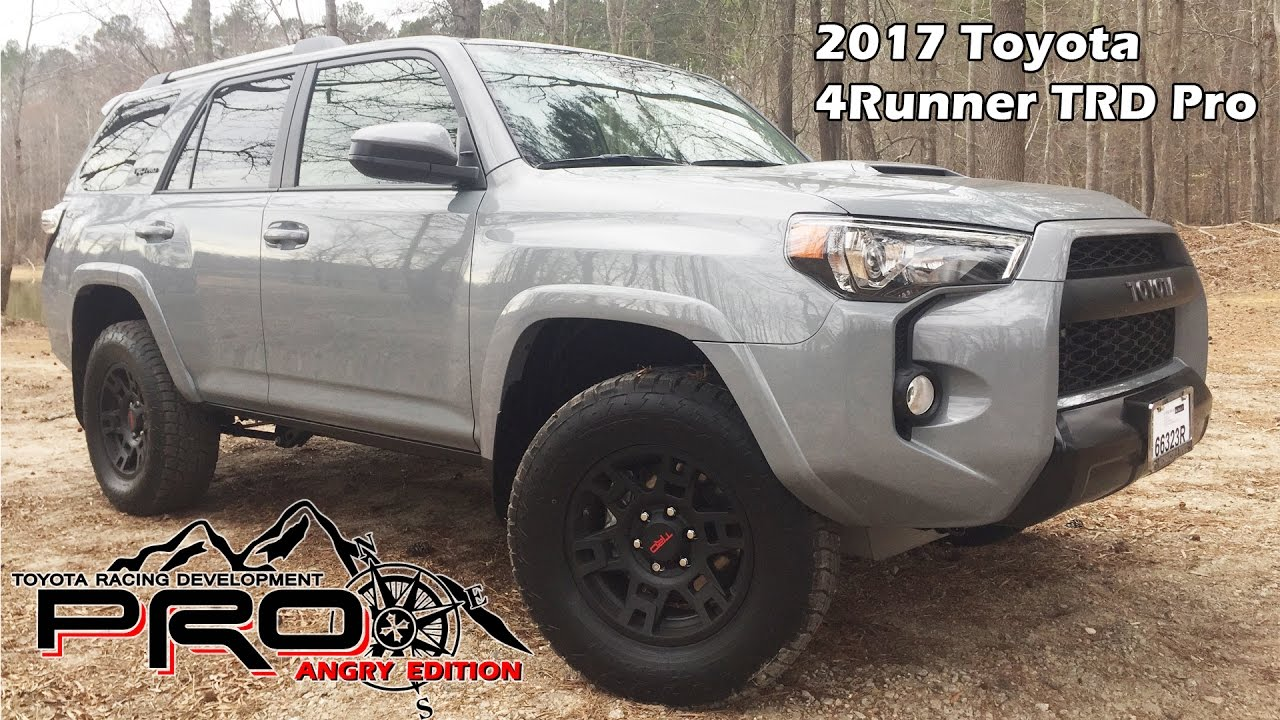 2017 toyota 4runner trd pro cement youtube. Black Bedroom Furniture Sets. Home Design Ideas