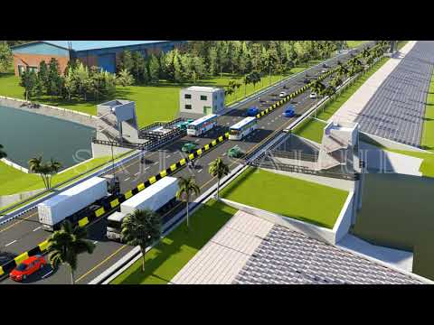 Chittagong City Outer Ring Road Two / Karnaphuli River Road Project (Animation)